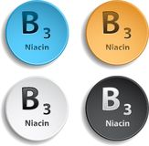 Vitamin B3. Different colors with shadow. eps10 Royalty Free Stock Photos