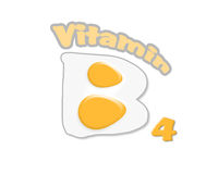 Vitamin B4 and eggs Royalty Free Stock Images