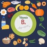 Vitamin B9 or folic acid infographic Royalty Free Stock Photo