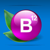 Vitamin B12. With green leaves as concept Royalty Free Stock Photography