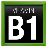 VITAMIN B1 Icon - Chemistry Royalty Free Stock Images
