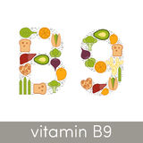 Vitamin B9  Stock Photos