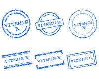 Vitamin B1 stamps Royalty Free Stock Image