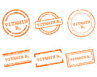 Vitamin B9 stamps. Detailed and accurate illustration of vitamin B9 stamps Stock Photo