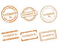 Vitamin B9 stamps Stock Photo