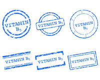 Vitamin B3 stamps Stock Photography