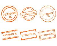 Vitamin B4 stamps. Detailed and accurate illustration of vitamin B4 stamps Royalty Free Stock Photography