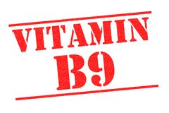 VITAMIN B9 Stempel Lizenzfreie Stockbilder