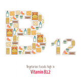 VItamin_b12_veg Royalty Free Stock Photos
