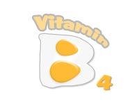 Vitamin B4 von Eiern vektor abbildung