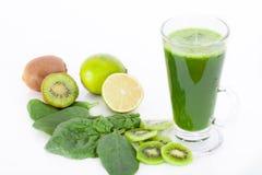 Vitamin bomb, healthy green smootie Stock Photos
