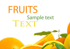Vitamin- Cüberlastung, Stapel der geschnittenen Frucht Lizenzfreie Stockfotografie