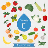 Vitamin C or Ascorbic acid Stock Photos