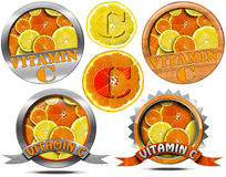 Vitamin C - Collections of Icons Stock Image