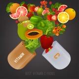Vitamin C in food image Royalty Free Stock Image