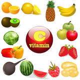 Vitamin C in foods of plant The origin of the Stock Photography