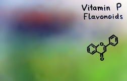 Vitamin C, formel, vitaminer Royaltyfria Bilder