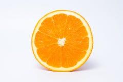 Vitamin C, halva av apelsinen Arkivbild