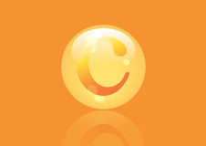 Vitamin C Icon. Ascorbic acid pill capsule Stock Photos