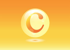 Vitamin C Icon. Ascorbic acid pill capsule Stock Photo