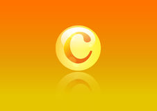 Vitamin C Icon. Ascorbic acid pill capsule Royalty Free Stock Images