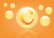 Vitamin C Icon. Ascorbic acid pill capsule Royalty Free Stock Photo