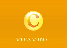 Vitamin C Icon. Ascorbic acid pill capsule Royalty Free Stock Photos