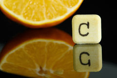 Vitamin C and lemon Royalty Free Stock Photo