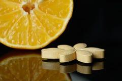 Vitamin C and lemon Stock Photos