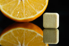 Vitamin C and lemon Stock Image
