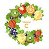 Vitamin C letter Royalty Free Stock Photos