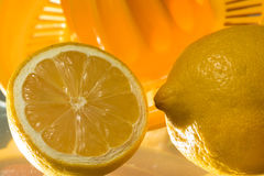 Vitamin C, nya citroner Arkivbild