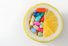Vitamin c pill Stock Photos