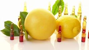 Vitamin C.Serum with Vitamin C. Transparent ampoules set