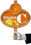 Vitamin C - Sign with Hand of Chef Royalty Free Stock Photos