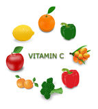 Vitamin C sources Stock Photography