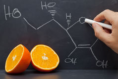 Vitamin C structure Royalty Free Stock Photography