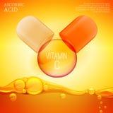 Vitamin C vector Stock Image