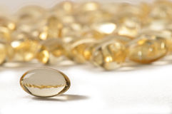 Vitamin caplets Royalty Free Stock Photo