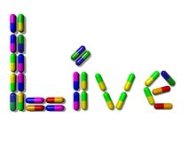 Vitamin in Capsules (Live) Royalty Free Stock Photography