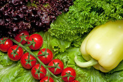 Vitamin Collection Of Vegetables Stock Photos