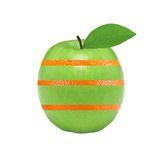 Vitamin concept - green apple and orange. Stock Photography