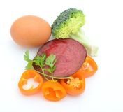 Vitamin cooking foods Royalty Free Stock Photos
