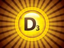 Vitamin D3 glossy brochure Royalty Free Stock Image