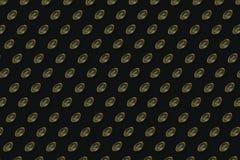 Vitamin d pattern on black background