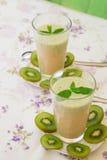 Vitamin drink- kiwi banana smoothie Stock Image