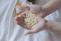 Vitamin, drugs, pills and tablets Royalty Free Stock Images