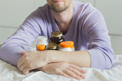Vitamin, drugs, pills and tablets Royalty Free Stock Photos