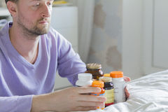 Vitamin, drugs, pills and tablets Stock Image