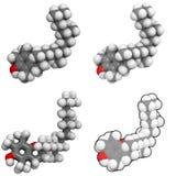 Vitamin E (alpha-tocopherol) molecule Royalty Free Stock Photography